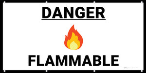 Danger Flammable with Emoji - Banner