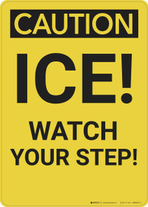 Caution: Ice Watch Your Step - Wall Sign
