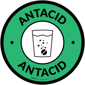 Antacid with Icon Circle - Floor Sign