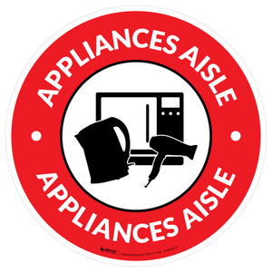 Appliances Aisle with Icon Circle - Floor Sign