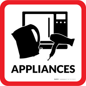 Appliances with Icon Square - Floor Sign