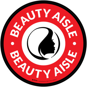 Beauty Aisle with Icon Circle - Floor Sign