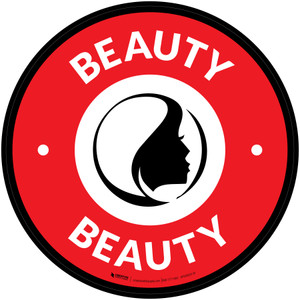 Beauty with Icon Circle - Floor Sign