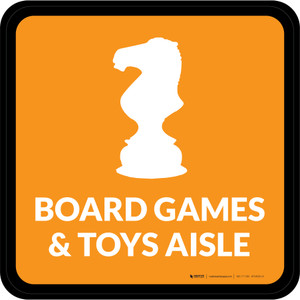 Board Games and Toys Aisle with Icon Square - Floor Sign