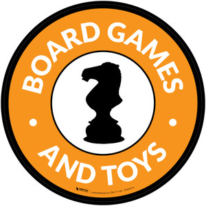 Board Games and Toys with Icon Circle - Floor Sign