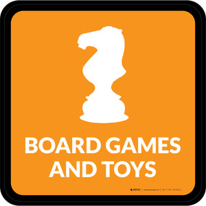 Board Games and Toys with Icon Square - Floor Sign