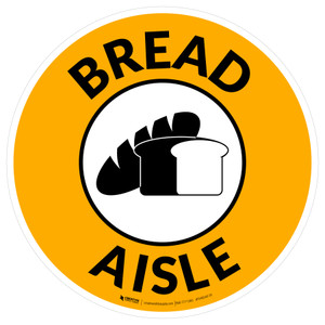 Bread Aisle with Icon Circle - Floor Sign