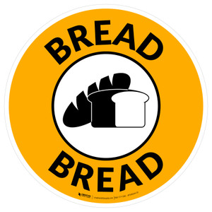 Bread with Icon Circle - Floor Sign