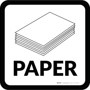 Paper with Icon Square - Floor Sign