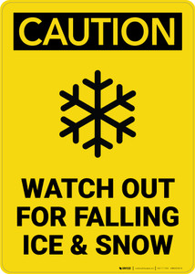 Caution: Watch Out For Falling Ice And Snow - Wall Sign