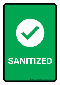 Sanitized with Icon Portrait - Wall Sign