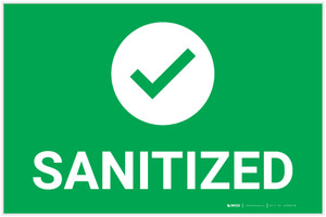 Sanitize with Icon Landscape - Label