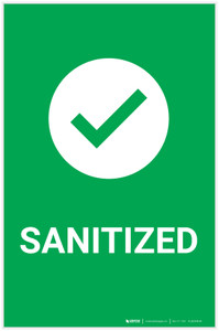 Sanitize with Icon Portrait - Label