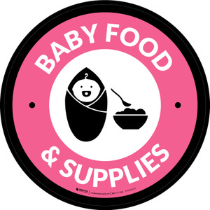 Baby Food & Supplies Circle - Floor Sign