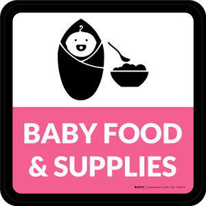 Baby Food & Supplies Square - Floor Sign