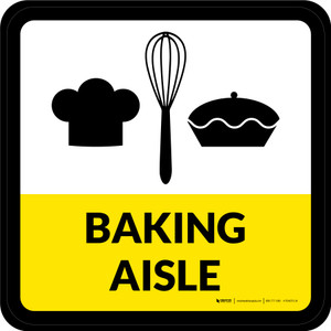 Baking Aisle Square - Floor Sign