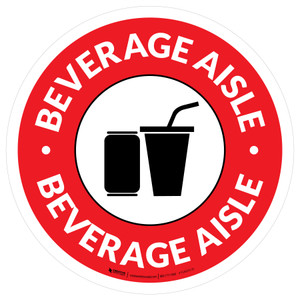 Beverage Aisle Circle - Floor Sign