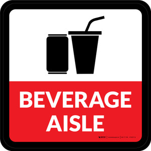 Beverage Aisle Square - Floor Sign