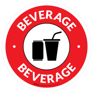 Beverage Circle - Floor Sign