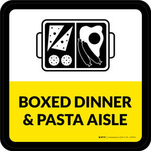 Boxed Dinner & Pasta Aisle Square - Floor Sign