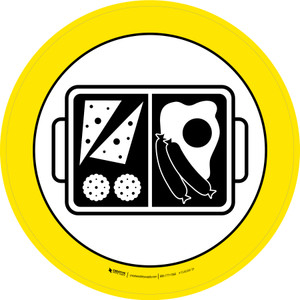 Boxed Dinner & Pasta Graphic Circle - Floor Sign