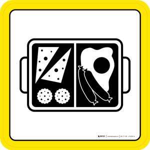 Boxed Dinner & Pasta Graphic Square - Floor Sign