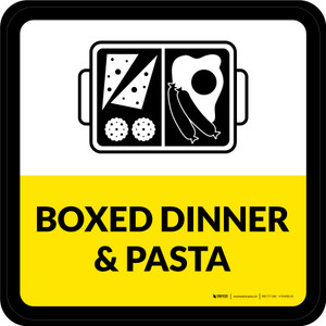 Boxed Dinner & Pasta Square - Floor Sign