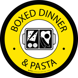 Boxed Dinner and Pasta Circle - Floor Sign