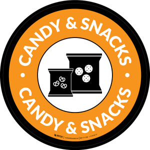 Candy & Snacks Circle - Floor Sign