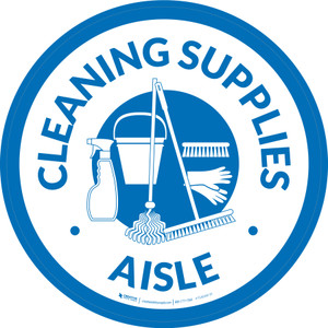 Cleaning Supplies Aisle Circle - Floor Sign