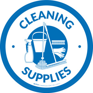 Cleaning Supplies Circle - Floor Sign