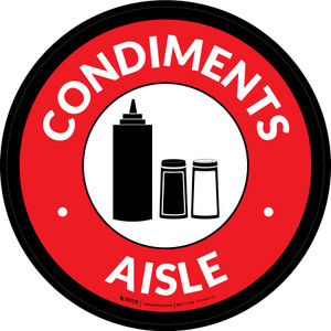 Condiments Aisle Circle - Floor Sign