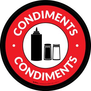 Condiments Circle - Floor Sign