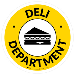 Deli Department Circle - Floor Sign