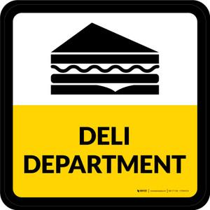 Deli Department Square - Floor Sign