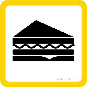 Deli Graphic Square - Floor Sign