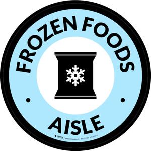Frozen Foods Aisle Circle - Floor Sign