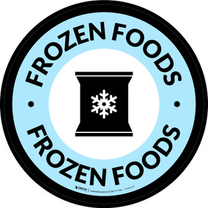 Frozen Foods Circle - Floor Sign