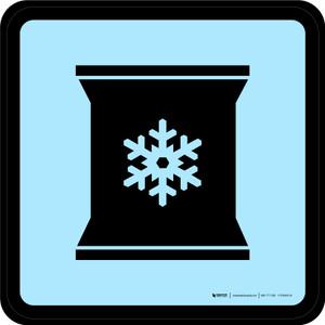 Frozen Foods Graphic Square - Floor Sign