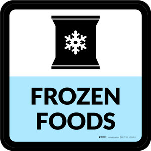 Frozen Foods Square - Floor Sign