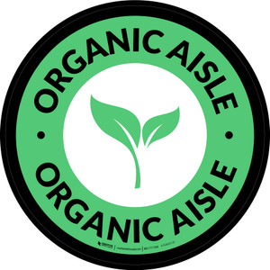 Organic Aisle Circle - Floor Sign