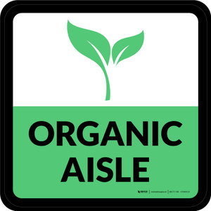 Organic Aisle Square - Floor Sign