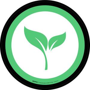 Organic Graphic Circle - Floor Sign