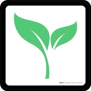 Organic Graphic Square - Floor Sign