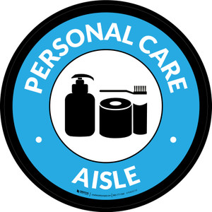 Personal Care Aisle Circle - Floor Sign