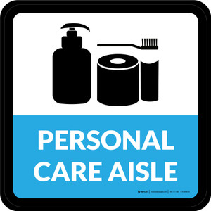 Personal Care Aisle Retail Square - Floor Sign