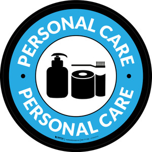 Personal Care Circle - Floor Sign