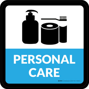 Personal Care Retail Square - Floor Sign
