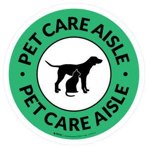 Pet Care Aisle Circle - Floor Sign