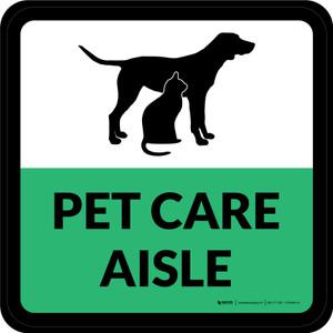 Pet Care Aisle Square - Floor Sign